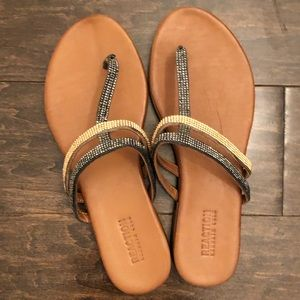 Glitzy Kenneth Cole flip flops